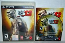 WWE'12 (Sony PlayStation 3, 2011) WWE 12 2012 WWF Wrestling PS3 Complete Game