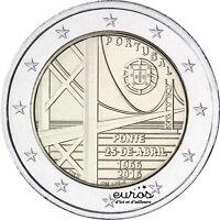 Pièce 2 euros commémorative PORTUGAL 2016 - 50ème anniv. du Pont du 25 avril