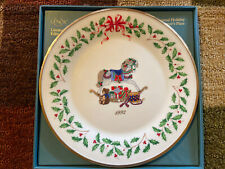 Lenox 1992 Annual Christmas Holiday Collector's Plate Rocking Horse Ori