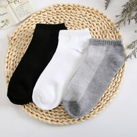 WHOLESAL! 5-12 Packs Ankle Socks Cotton Mens Womens Low Cut Dozen Stretch RR US