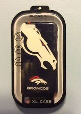 NFL Broncos XL Cover Protector Case for Apple iPhone 6 NEW