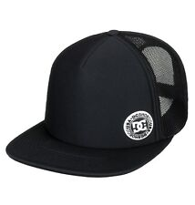 DC SHOES MENS BASEBALL CAP.BALDERSON BLACK FLAT PEAK MESH TRUCKER HAT 8W 28 KVJO