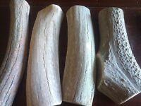 Great For Rescues! 10 LBs Bargain Bones Split Elk & Deer Antler Dog Chew Mix-M/L