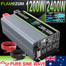 Large Shell 1200W/2000W Power Inverter 12V To 240V Pure Sine Wave USA Transistor