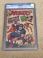 Avengers 4 CGC 8.0 OW/White Pages (1st SA Captain America)- GRR 1966!!
