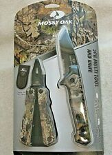 Mossy Oak 2 Pk Muli Tool And Knife Sheath Included Stainless Blade Camouflage