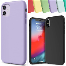 Matte Silicone TPU Case for Apple iPhone 11 12 Pro Max X XS SE XR 6 7 8 Plus Gel
