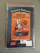Country Patterns Rebecca & Her Bunnies Upright Vacuum Cover OZARK CRAFT PATTERN