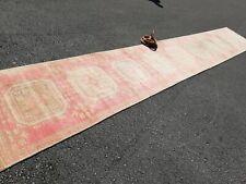Vintage Anatolian handmade Turkish   OUSHAK runners RUG size 20.10x3.1 ft