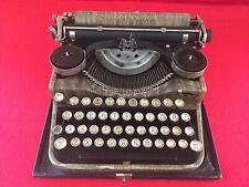 Vintage Underwood Standard Portable Typewriter Wood Grain Finish 1928 Four Bank