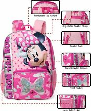 """Disney Minnie Mouse Bow-tiful 16"""" Back to School Book Bag Backpack"""
