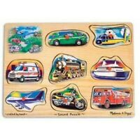 Melissa & Doug Classic Vehicles Sound Puzzle - 10267 - NEW!