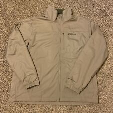 Columbia Tan & Olive Green Embroidered Fleece Lined Omni Shield Jacket Size XL