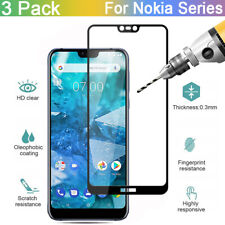 For Nokia 9/X 7 6/7.1/6.1/5.1/4.2/3.1/2.2/2.1 + Tempered Glass Screen Protector