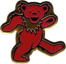 Sticker Red Gold Dancing Jerry Bear Grateful Dead Music Band METAL EMBLEM 37024