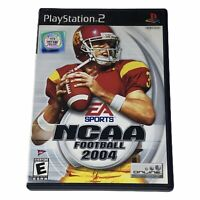 NCAA Football 2004 Sony PlayStation 2 PS2 Complete w/Manual Tested Works