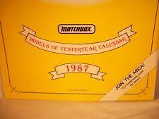Matchbox International Limited Models of Yesteryear calendar 1987 collectors ed.