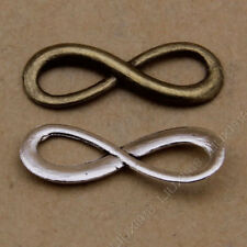 3 Tibetan Silver  Charms  infinity symbol Jewellery Making Crafts uk stock fast