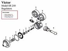 Victor 250 15 510 Amp 250 15 300 Acetylene Regulator Rebuildrepair Parts Kit