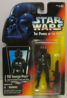 1995  Kenner Star Wars TIE Fighter Pilot POTF 2 Red Card New & Sealed Figure MOC