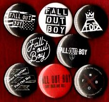 FALL OUT BOY 8 NEW 1 inch pins button badge emo