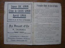 saison 1927 ? PROGRAMME Calendrier Rugby CHALON sur SAONE 1928 ? sport