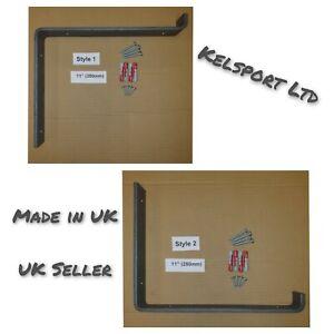 Heavy Duty Steel Scaffold Board Rustic Shelf Brackets 280mm 11 inch UK Made