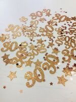 Rose Gold Table Confetti 30 - Any Age, Various Colours - Birthday, Tableware