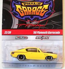 2010 Hot Wheels PHIL'S GARAGE #22 * '68 PLYMOUTH BARRACUDA *  YELLOW HEMI 'CUDA