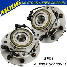 Moog Pair Front Wheel Hub Bearing For Silverado/Sierra 1500 2500HD 4x4 4WD W/ABS
