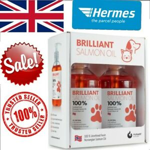 *HOT* Brilliant 100% Fresh Salmon Oil For Pets, 2 x 300ml Twin Pack!