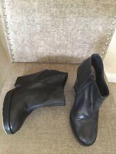 CARVELA Kurt Geiger black leather block heel Chelsea ankle boots UK 8 /41