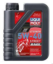 Liqui Moly 4 Stroke Fully Synth Motorbike Engine Oil Street Race 5w-40 1l