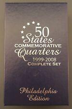 50 States Commemorative Quarters /  Complete Set 1999-2008 / Philadelphia