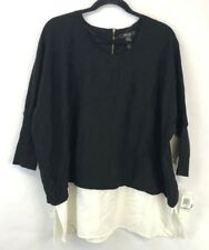 Style and Co Vintage Soul Tunic Top Black Plus Size 1X New With Tags