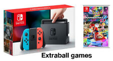NINTENDO SWITCH RED AND BLUE JOY-CON + MARIO KART DELUXE 8