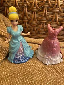 DISNEY PRINCESS CINDERELLA MAGICLIP MAGIC CLIP DOLL & 2 DRESSES