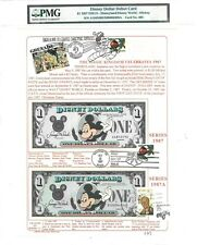 $1 DISNEY DOLLAR 1987 FIRST DAY STAMP CANCEL DEBUT CARD LUCKY MONEY $5000
