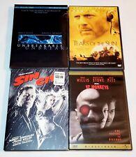 Unbreakable (Sealed), Tears Of The Sun, Sin City & 12 Monkeys Dvd Bruce Willis