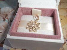 Genuine Authentic Pandora 14ct Gold Lace Botanique Pendant Charm 350179CZ