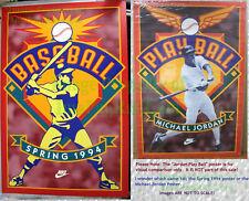 NITF Nike Baseball Poster Spring 1994 ☆ Like Michael Jordan Play Ball Card Stock