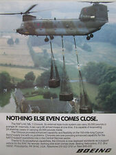 11/1985 PUB BOEING HC MK.1 CHINOOK RAF HEAVY LIFT HELICOPTER ORIGINAL AD