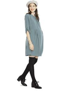 Hatch Maternity Women's THE EMMA DRESS Pine w/Pockets Size 2 (M/8-10) NEW
