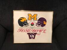 1993 Rose Bowl Michigan Wolverines Washington Huskies Rare Vintage Collectible