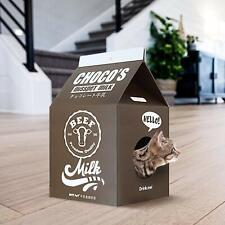 ScratchMe Cat Scratching Post Lounge Relaxing Condo Cat Scratcher Cardboard