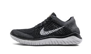 Nike Women's Free RN Flyknit 2018 Black Grey Gold 942839-005 New Women's No Lid