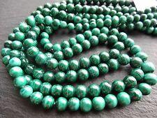 """MALACHITE ROUNDS, graduated 4mm - 7mm, 18"""" strand, 80 beads"""