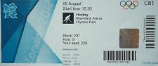Eintrittskarte Olympia 8.8.2012 Women's Hockey Niederlande - Neuseeland C81