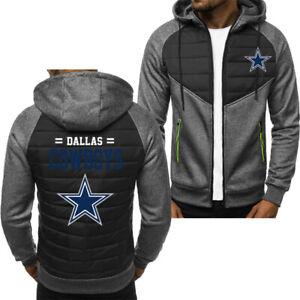 Dallas Cowboys Hoodie Classic Autumn Hooded Sweatshirt Jacket Coat Top Tops