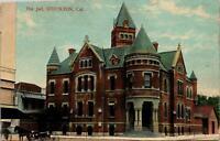 Stockton CA The Jail Postcard used 1900s/10s